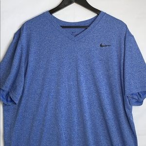 Nike Dri Fit Men's Blue Active Short Sleeve Shirt